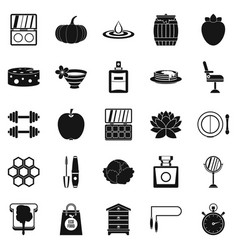 Perfect body icons set simple style vector