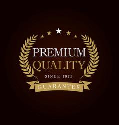 premium quality logo vector image