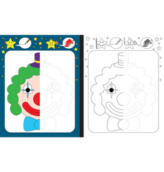 Preschool worksheet vector