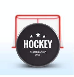 Red hockey goal realistic design isolated on white vector