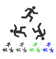 Running men flat icon vector