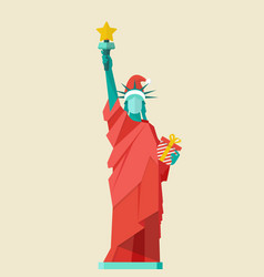 Santa statue of liberty vector