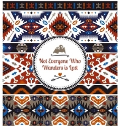 Seamless bright pattern in aztec style vector image