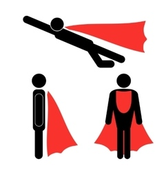Set of Superhero Icons vector image