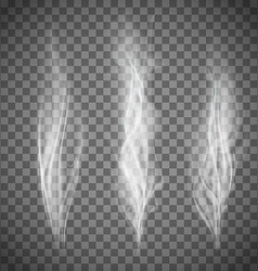 Set of transparent gray smoke vector