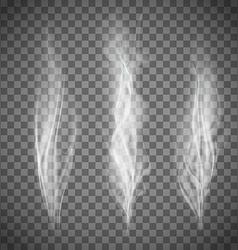 set transparent gray smoke vector image