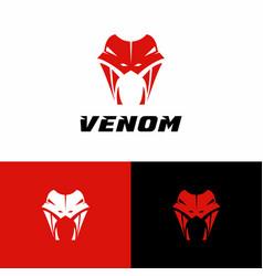 Snake logo silhouette design vector