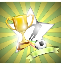 Soccer Poster With Trophy Cup vector image