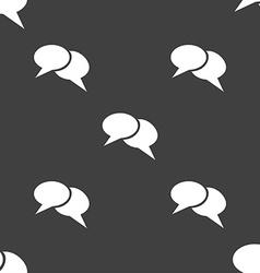 Speech bubble icons Think cloud symbols Seamless vector