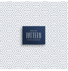 Subtle hexagonal line pattern background vector
