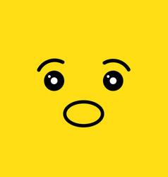 Surprise face vector