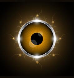 Technology cyber security eye thunderbolt vector