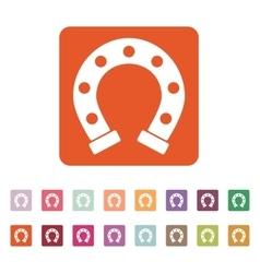 The horseshoe icon Horse and races symbol Flat vector image