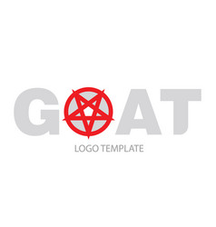 The inscription goat with the pentagram vector