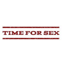 Time For Sex Watermark Stamp vector image
