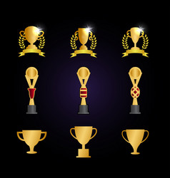 trophy cup graphic template vector image
