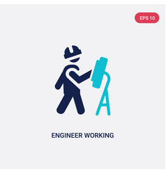 Two color engineer working icon from behavior vector