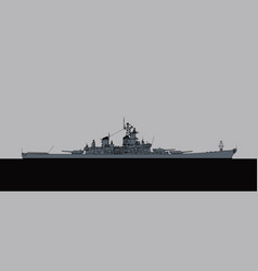 us navy iowa-class battleship vector image