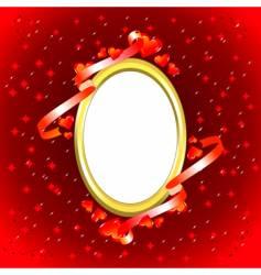 valentine photo frame vector image