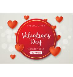Valentines day sale banner background vector