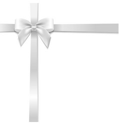 White bow with background vector
