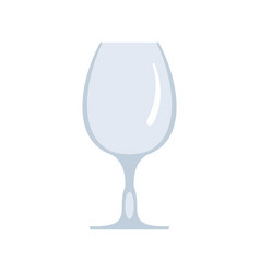 Wineglass icon flat style vector