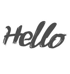 Word hello in handwriting style vector