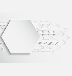 abstract hexagon and arrows background with paper vector image
