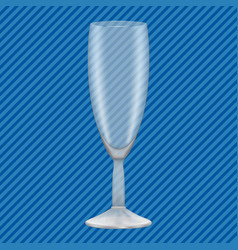 champagne glass concept background realistic vector image