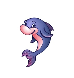 dolphin in cartoon style vector image vector image