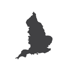 England map silhouette vector image