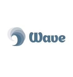 Isolated swirl wave logo Water logotype vector image