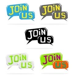 Join us speech cloud vector image vector image