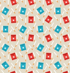 Seamless pattern of package boxes and cigarettes vector