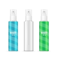 Beauty Spray Can Package SetRealistic Cosmetic vector image vector image
