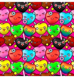 Colorful cute cartoon seamless pattern vector image