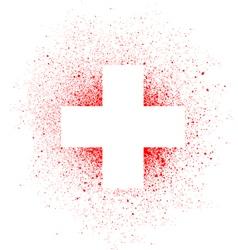 graffiti white cross spray design element in white vector image
