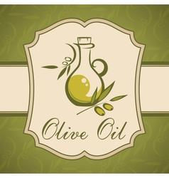 Olive oil Vintage label vector image