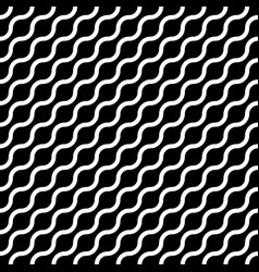 Abstract seamless pattern with white waves in vector