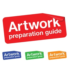 artwork guide sticker vector image