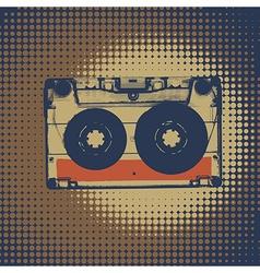 Audiocassette retro music background Audiocassette vector image