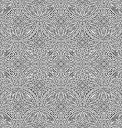Hand drawn seamless mandala flowers pattern vector image vector image