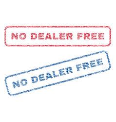 No dealer free textile stamps vector