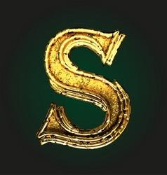 s golden letter vector image vector image