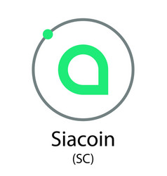 siacoin cryptocurrency symbol vector image vector image