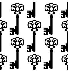 Vintage skeleton keys seamless pattern vector image vector image