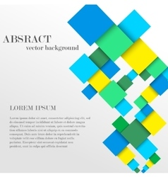 Abstract geometric shape from diamonds vector image vector image