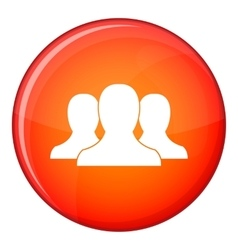 Group of people icon flat style vector image