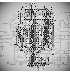 Microchip background electronics circuit EPS10 vector image