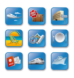 resort concept icons vector image vector image
